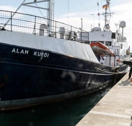 Woman on board stranded MV Alan Kurdi evacuated for medical reasons