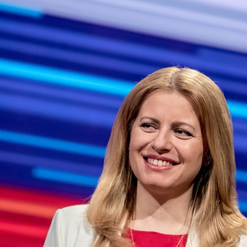 Slovakia's first female president says her victory is a win for progressive values