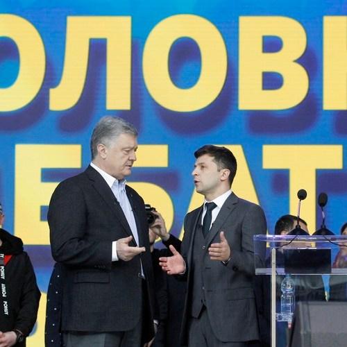 Ukraine: Polls show Zelensky winning 73% of the vote, beating incumbent President Petro Poroshenko in the run-off elections