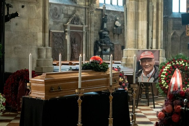 Memorial service for Formula One legend Niki Lauda in Vienna