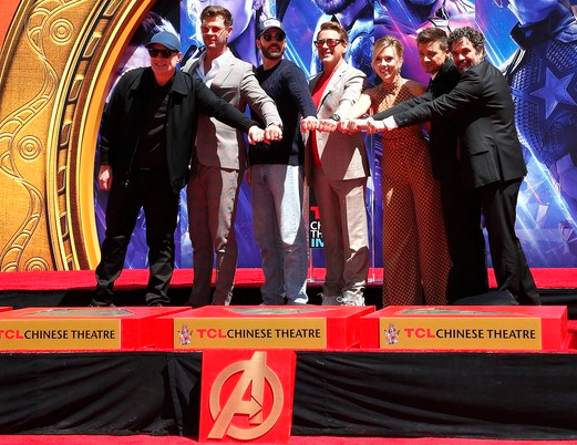 Avengers cast handprints ceremony