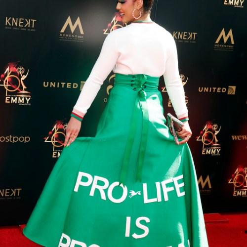 Photostory: Pro-life statement by US singer Joy Villa at Emmy Awards
