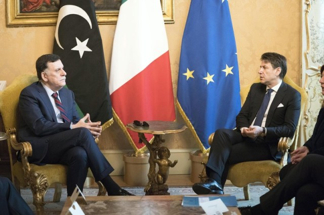 Conte meets Fayez al-Sarraj
