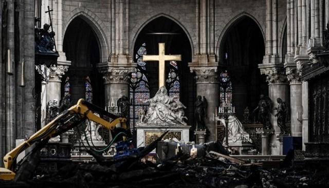 Canadian Prime Minister Justin Trudeau visits Notre Dame de Paris