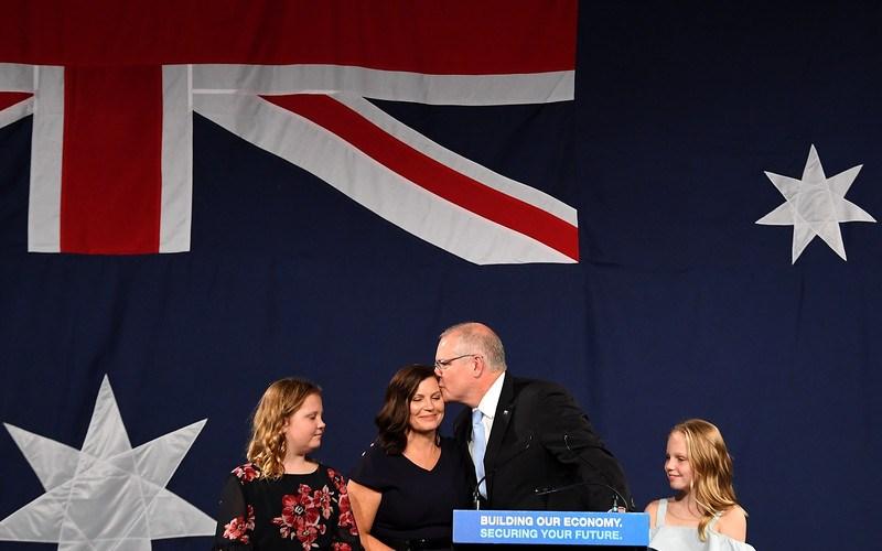 Morrison thanks Australians for surprise victory