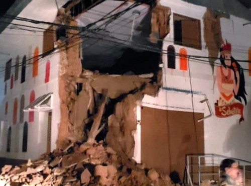 Strong magnitude earthquake strikes Peru