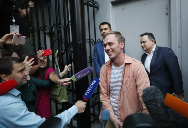 Meduza journalist Ivan Golunov freed
