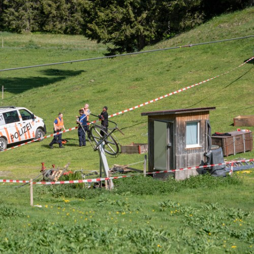 Accident involving a cable car at the Swiss mountain of Titlis