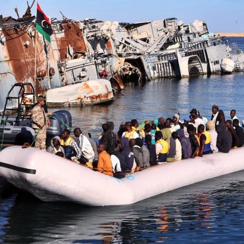 Libya coast guard intercepts persons trying to reach Europe