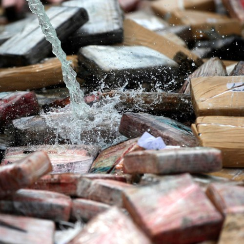 Over 10.7 tons of cocaine destroy by Panama police