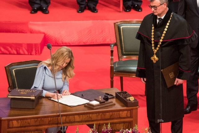 Inauguration ceremony of Slovakia's new President Zuzana Caputova