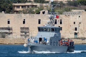 Patrol Boat rescue Migrants at Malta