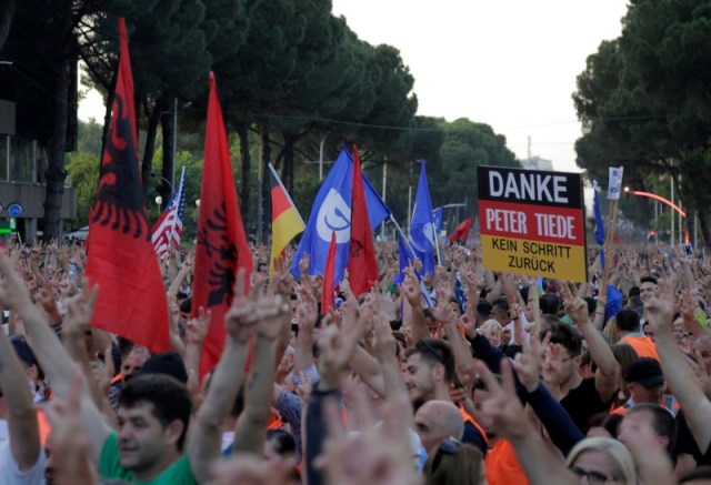 Opposition protest in Tirana