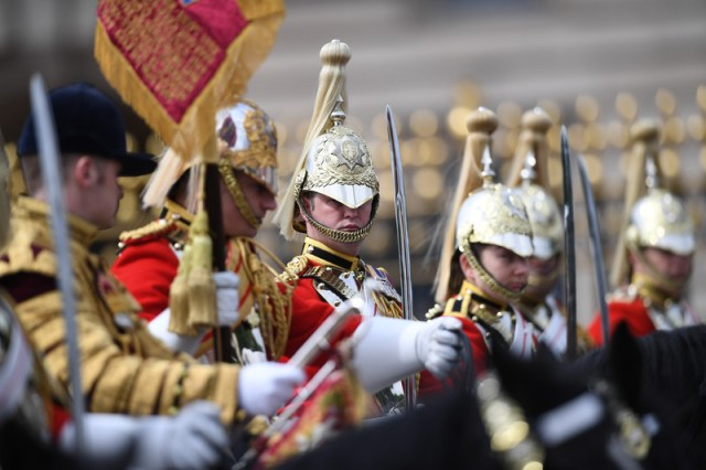 Trooping the Colour Queen's birthday parade in London