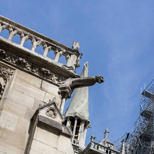 Photo Story: Preliminary work at the Notre-Dame