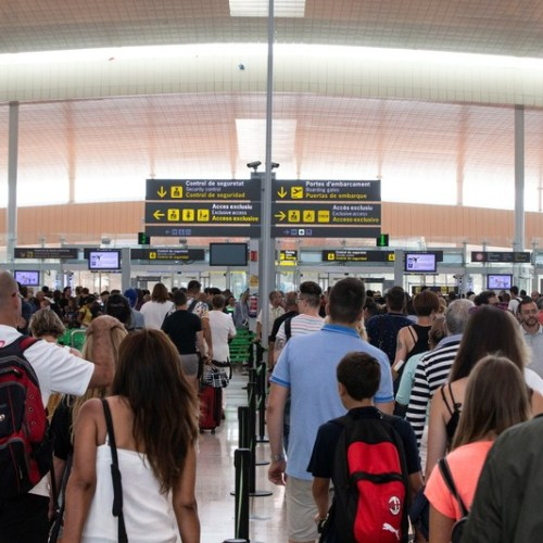 Photo Story: Security control strike at Barcelona's airport