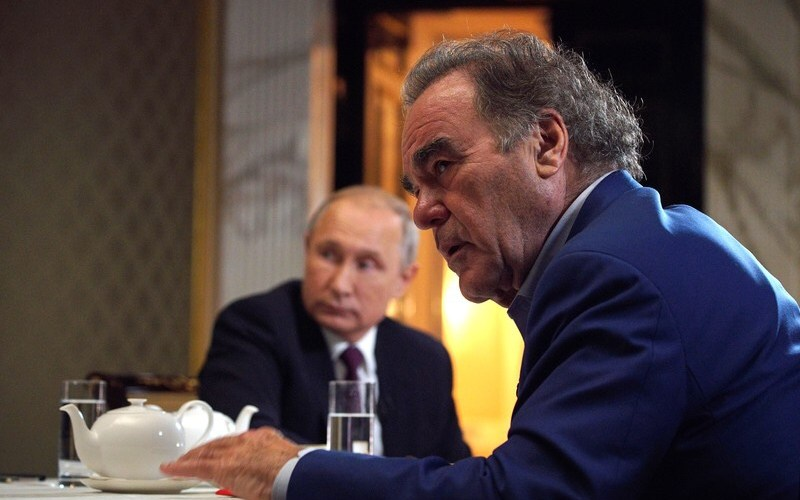 Oliver Stone asked Putin to be his daughter's godfather