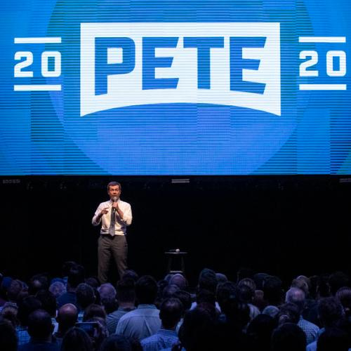Pete Buttigieg holds a fundraiser in Hollywood