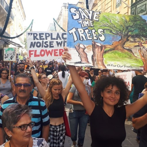 """Enough is enough"" protest against construction and development excesses in Malta"
