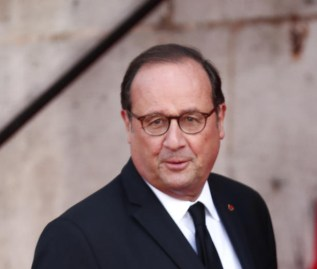French former President Francois Hollande attends a memorial service for French former President Jacques Chirac. EPA-EFE/IAN LANGSDON