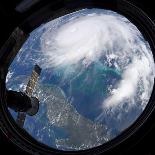 Hurricane Dorian as seen from the International Space Station