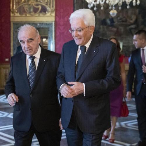 Photo Story: Maltese President Vella in talks with Italian President Mattarella in Rome
