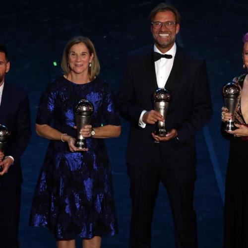 Messi, Rapinoe and Klopp win FIFA 'The Best' Awards