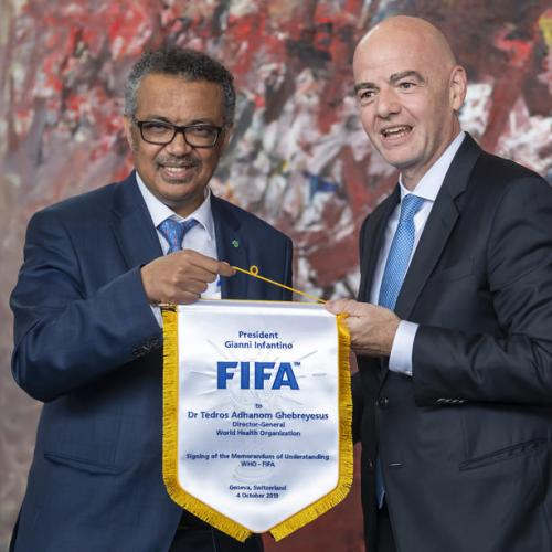 FIFA and UN kick off healthy living campaign, to harness global game's 'huge potential'