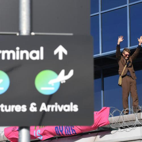 Photo Story: Extinction Rebellion try to block London City Airport, flight disrupted