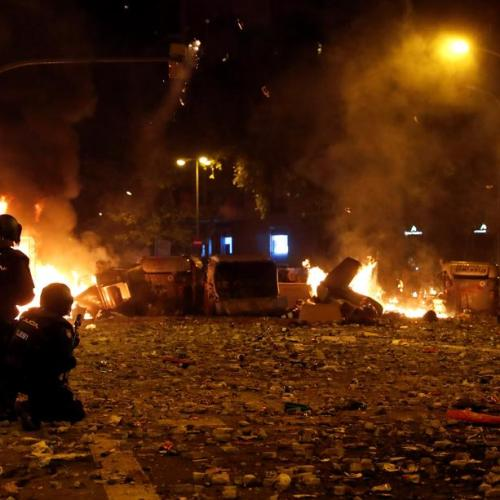 Protests in Barcelona enter fifth day, increase in violence intensity