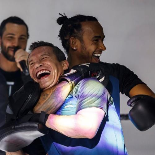 Photo Story: F1 driver Lewis Hamilton in exhibition match against boxing legend Julio Cesar Chavez