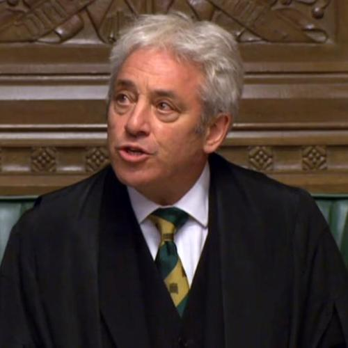 John Bercow to step down today as speaker of the House of Commons