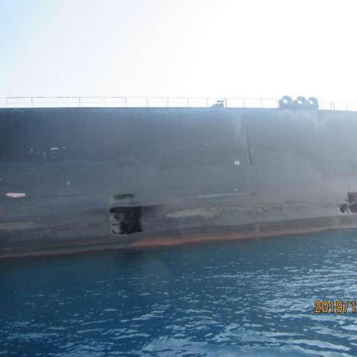 Photos released of Iranian Oil Tanker attack