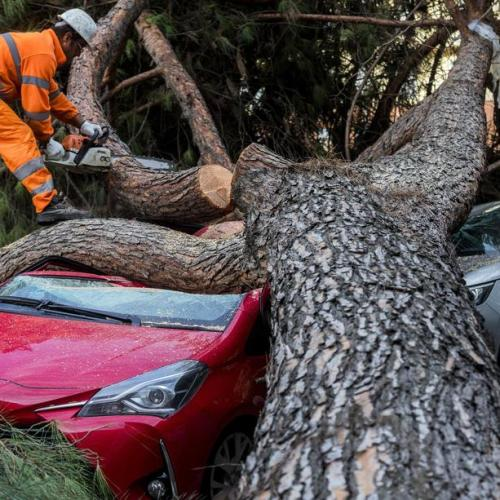 Storm causes damage in Rome
