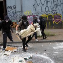 Protests in Santiago