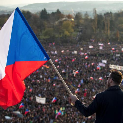 Czech anti-government protesters mark anniversary of Velvet Revolution