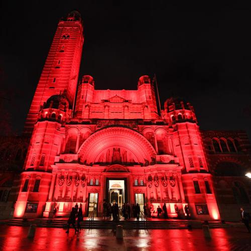Photo Story: Westminster Cathedral lit red in homage to persecuted Christians