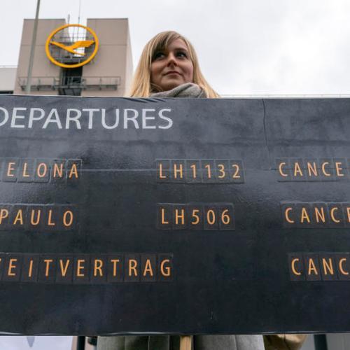 Lufthansa strike continues, 600 flights cancelled