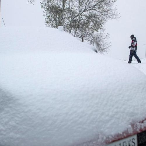 Photo Story: Cold wave hits Spain with snow and strong winds