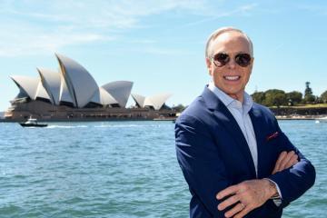 US designer Tommy Hilfiger in Sydney