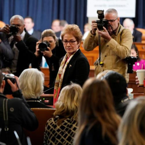 Former US Ambassador to Ukraine testifies in impeachment inquiry