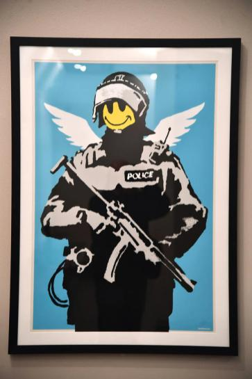 Exhibition The second principle of an artist called Banksy in Genoa