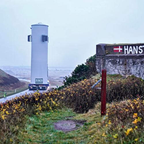 Photo Story: Wind turbine transport on closed highway