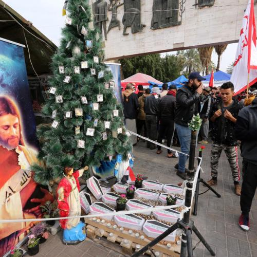 No Christmas decorations in Iraq in solidarity with protesters