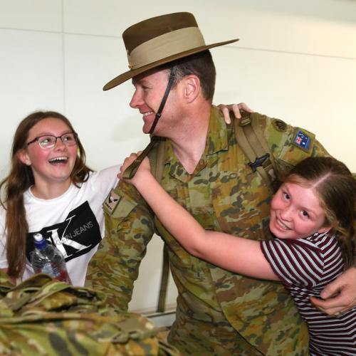 Photo Story: Australian Defence Force personnel return home after deployment to Iraq