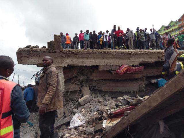 Six story building collapses in Nairobi, Kenya