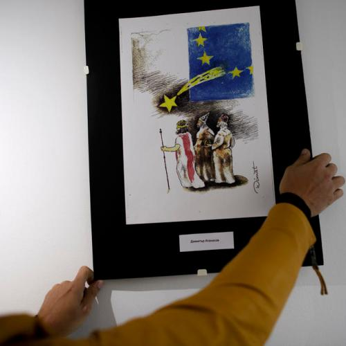 Cartoon exhibition on Brexit opens in Bulgaria
