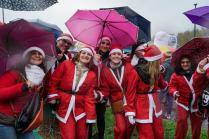 Santa Clauses gathering in Turin
