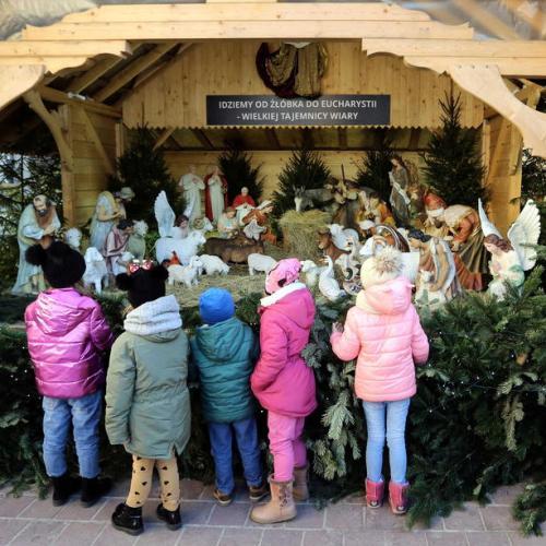 Jasna Gora Monastery in Poland displays it's Christmas Crib