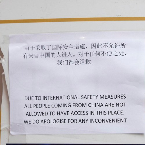 Photo Story: Bar in Rome bans Chinese due to coronavirus outbreak